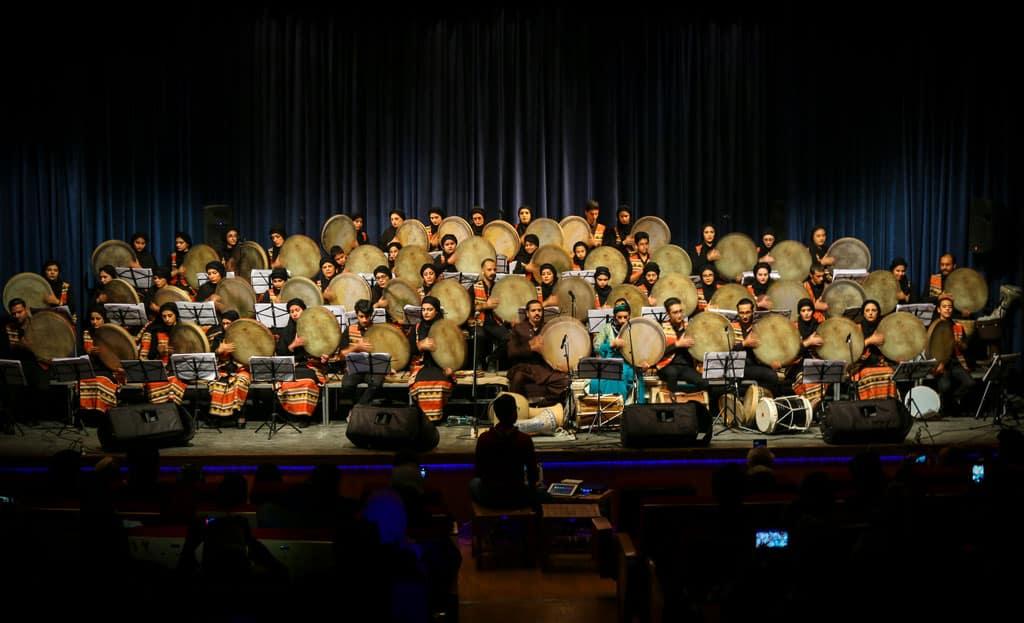 کنسرت اصفهان دف نوازان هیوا - دی 1398